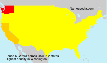 Surname Cerera in USA