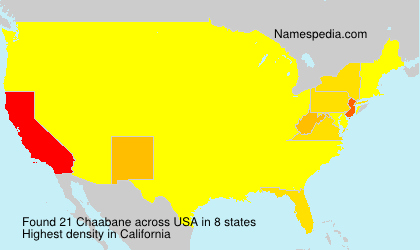 Surname Chaabane in USA