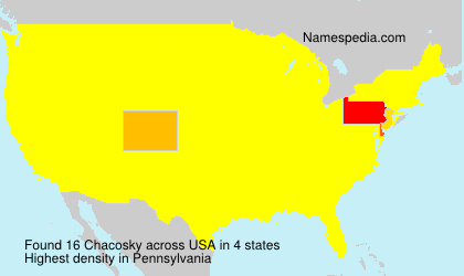 Surname Chacosky in USA