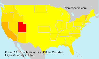 Surname Chadburn in USA