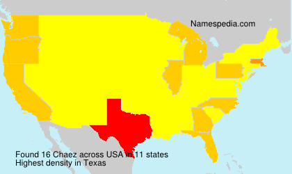 Surname Chaez in USA