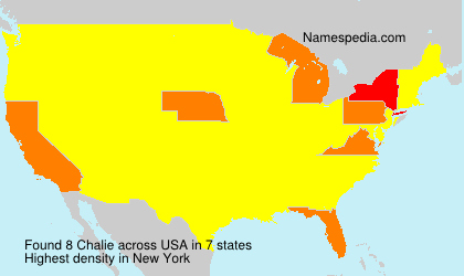 Surname Chalie in USA