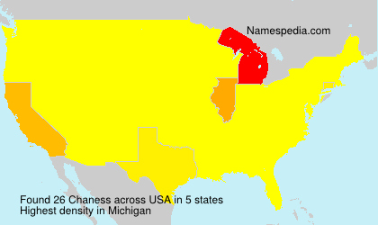 Surname Chaness in USA