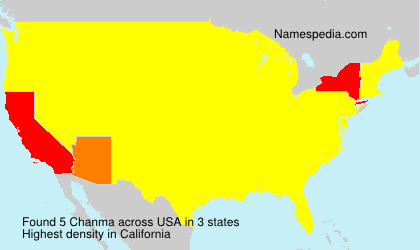 Surname Chanma in USA