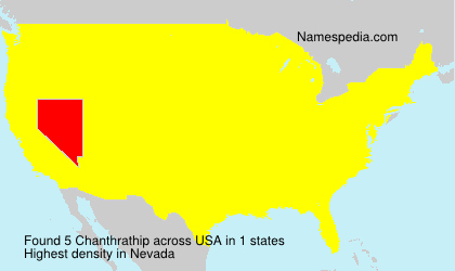 Surname Chanthrathip in USA