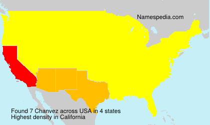 Surname Chanvez in USA