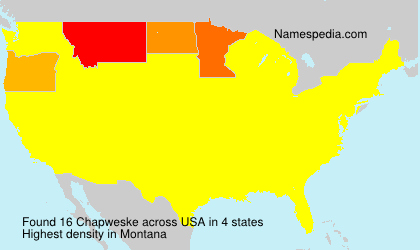 Surname Chapweske in USA