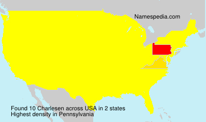 Surname Charlesen in USA