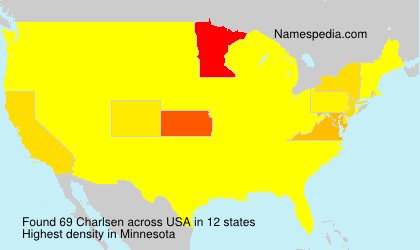 Surname Charlsen in USA
