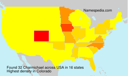 Surname Charmichael in USA