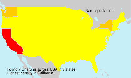 Surname Charonis in USA