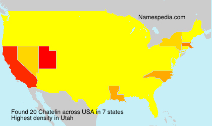Surname Chatelin in USA