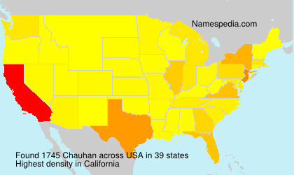 Surname Chauhan in USA