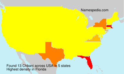 Surname Chbani in USA