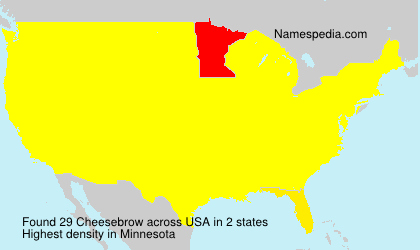 Surname Cheesebrow in USA