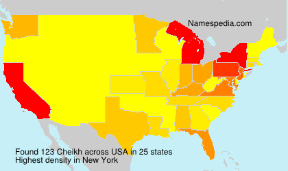 Surname Cheikh in USA