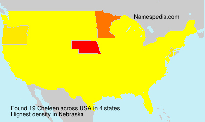 Surname Cheleen in USA
