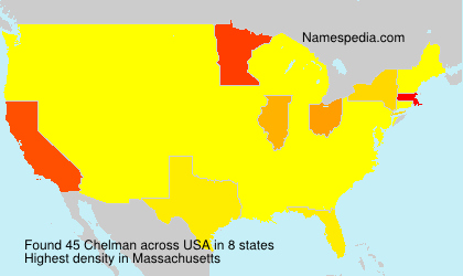 Surname Chelman in USA