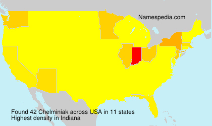Surname Chelminiak in USA