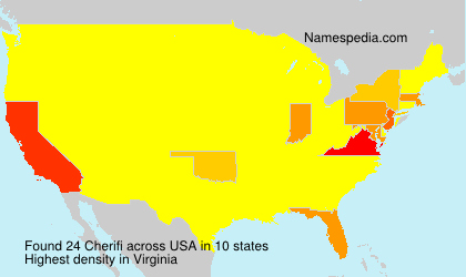 Surname Cherifi in USA