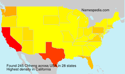 Surname Chheng in USA