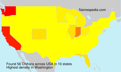 Surname Chihara in USA
