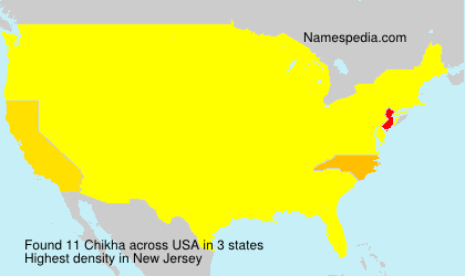 Surname Chikha in USA