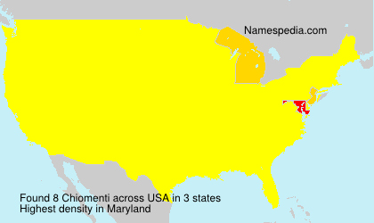 Surname Chiomenti in USA