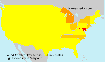 Surname Chizhikov in USA
