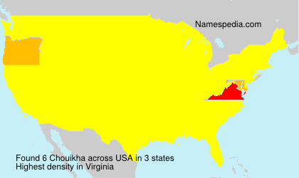 Surname Chouikha in USA