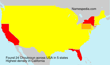 Surname Choukroun in USA