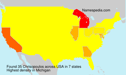 Surname Chrisopoulos in USA