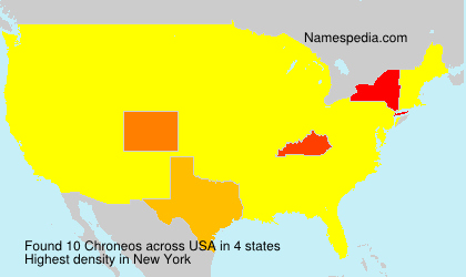 Surname Chroneos in USA