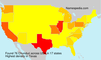 Surname Chunduri in USA