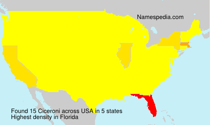 Surname Ciceroni in USA