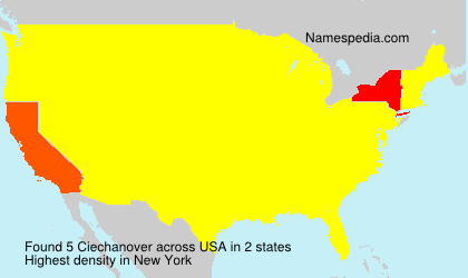 Surname Ciechanover in USA