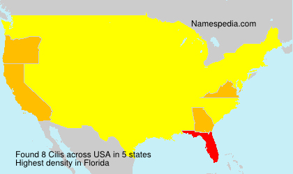Surname Cilis in USA