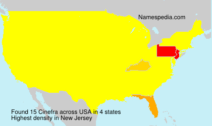 Surname Cinefra in USA