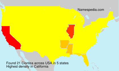 Surname Ciontea in USA