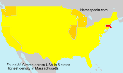 Surname Cirame in USA