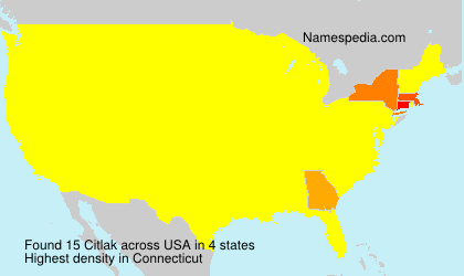 Surname Citlak in USA