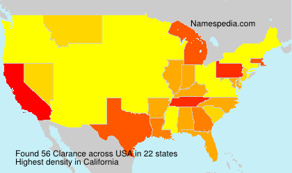 Surname Clarance in USA