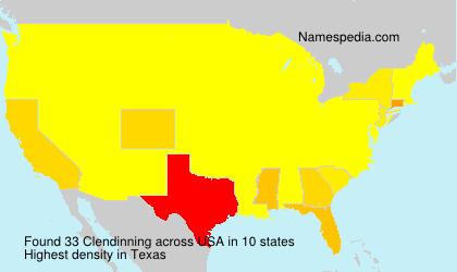 Surname Clendinning in USA