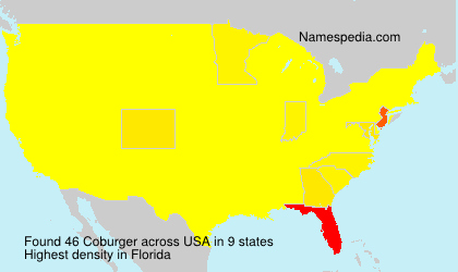 Surname Coburger in USA
