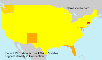 Surname Codato in USA