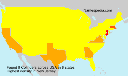 Surname Colinders in USA