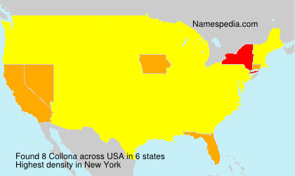 Surname Collona in USA