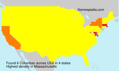 Surname Columban in USA