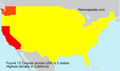Surname Colyear in USA
