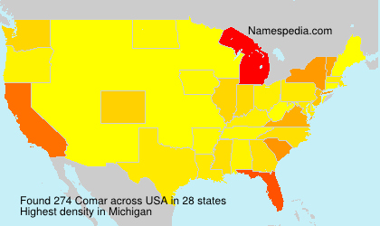 Surname Comar in USA